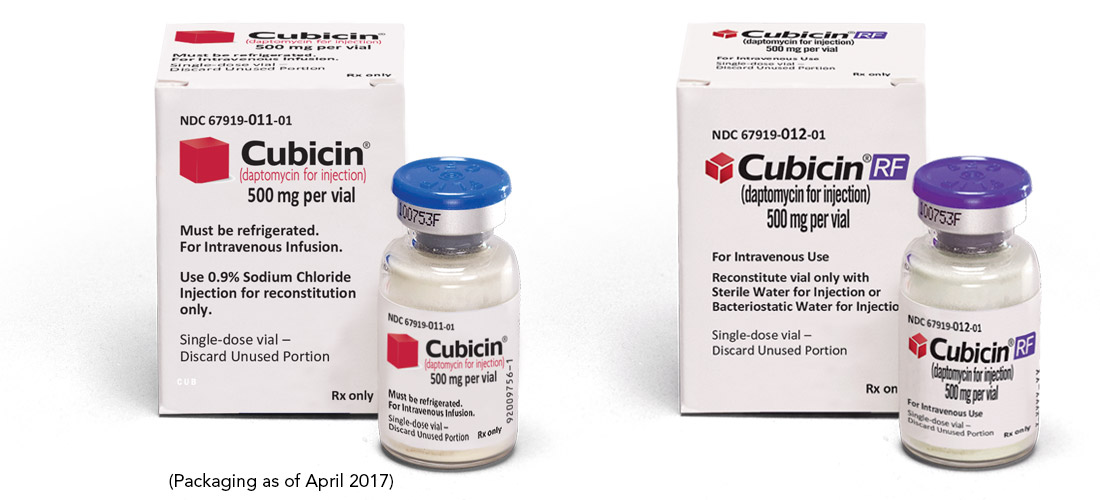 CUBICIN/CUBICIN RF Packaging